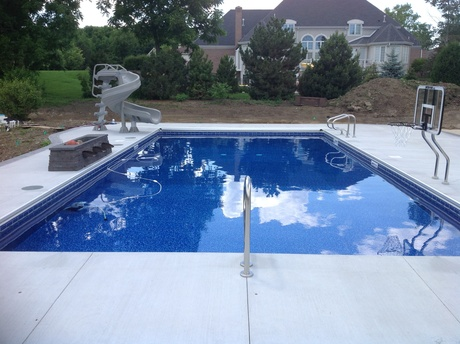 Pool with auto cover wisconsin